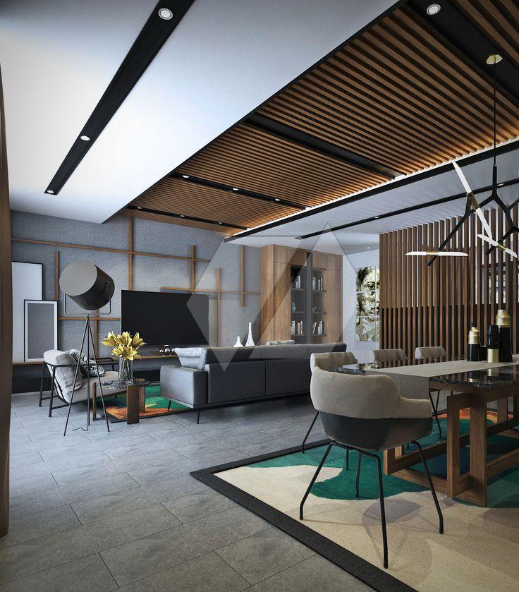 ide interior ruang tamu yang memanjang | Portofolio By : Dimas Daforza (Interior Designer di Sejasa.com)