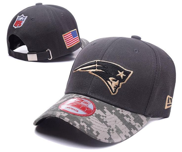 Men's / Women's New England Patriots New Era NFL On-Fields Digital Camo Visor Adjustable Baseball Hat - Black / Gold