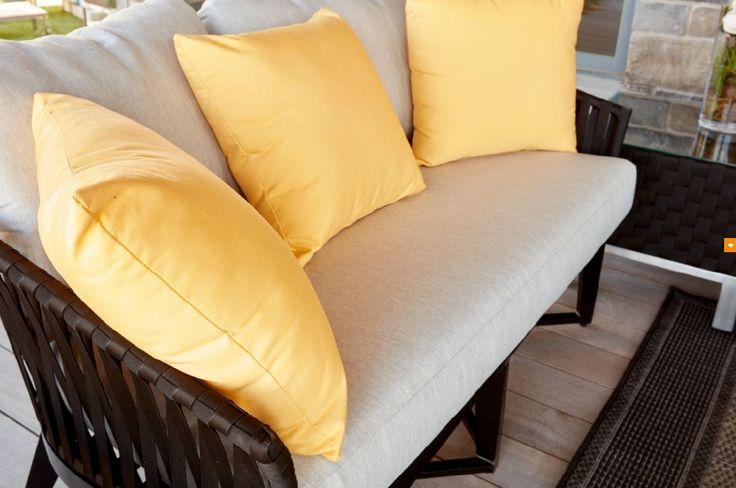 Yellow Sunbrella Toss Cushions