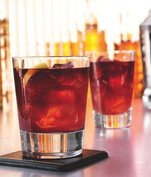VELVET ELVIS-best name for a drink, EVER.  Chambord, Jack Daniel's, and Coke