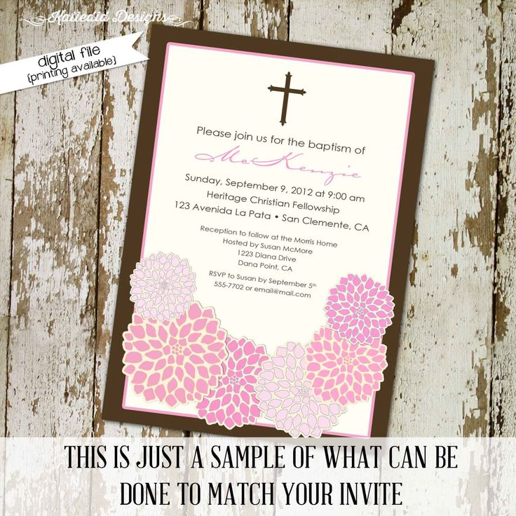 349 best baptism invitations images on Pinterest Christening