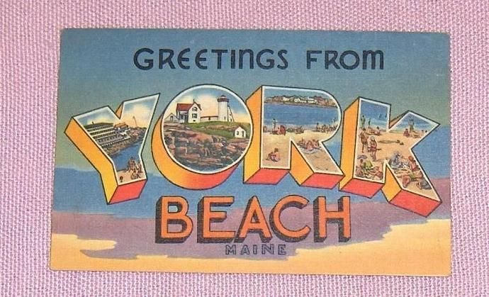 Greetings from York Beach  Maine United States    Postcard by FaysTreasuretrove, $6.50 USD