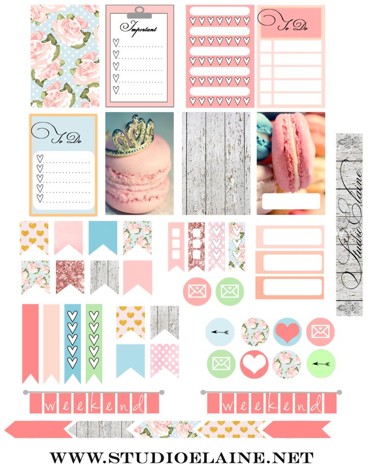 Planner & Journaling Printables ❤ FREE Planner Stickers BY Studio Elaine
