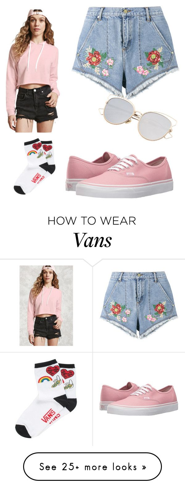"""""""pink"""" by bedlov on Polyvore featuring House of Holland, Forever 21 and Vans"""