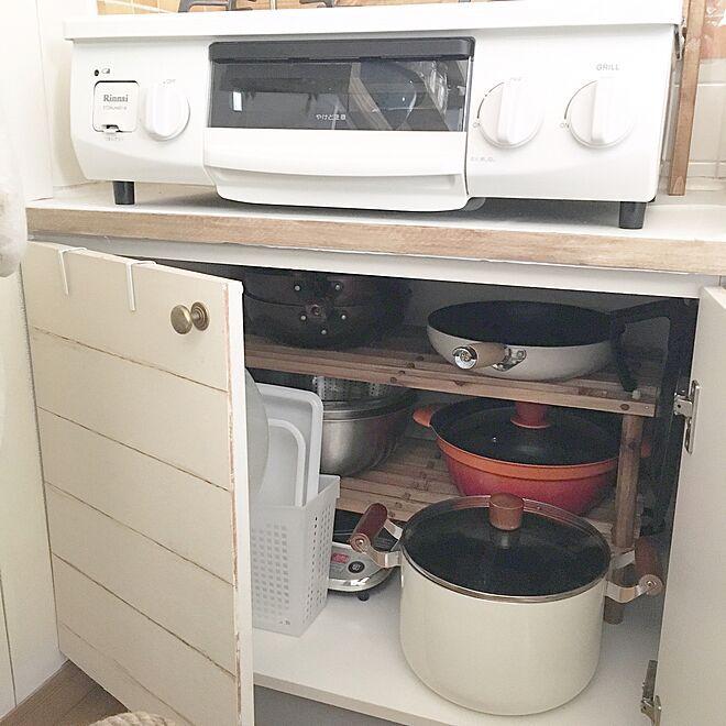 棚 ナフコ コーナン コンロ下収納 極小キッチン などのインテリア