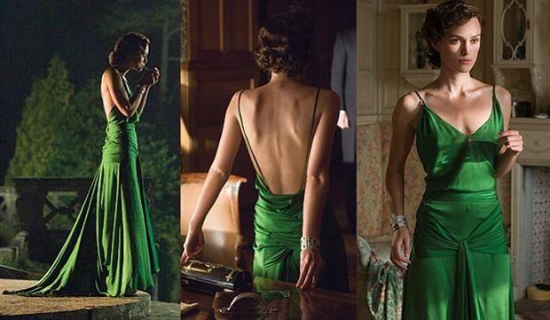 Ropa de película  El vestido tiene un efecto tornasol que hace que la intensidad del verde varíe de escena a escena.         Foto:Gentileza Expiación, deseo y pecado Facebook