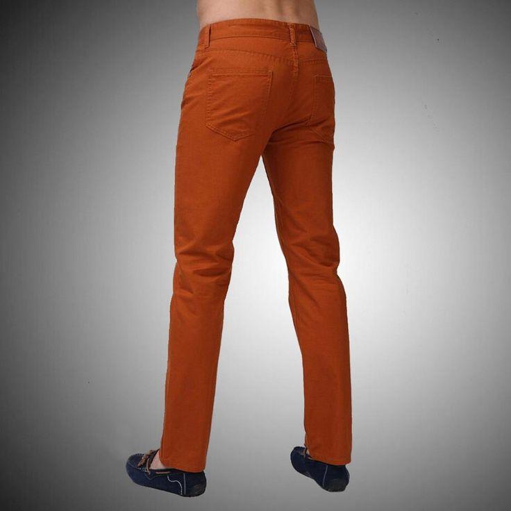 2017 New Arrival Men Designer Brand Straight Pants Fashion Casual Slim Custom Fit Candy Skinny Denim Pencil Jeans H0290