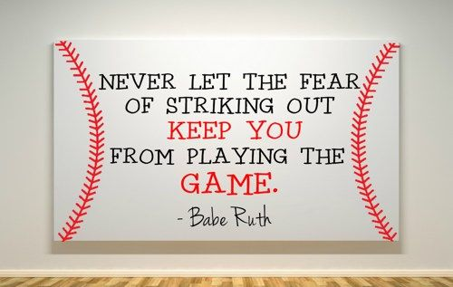"""Baseball Quote - Canvas Painting - 11""""X14""""   DearlyLovedBoutique - Painting on ArtFire"""