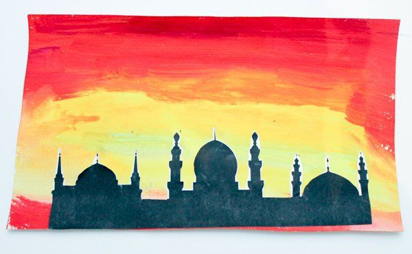 Using watercolours is a really fun way to make a striking and effective background for any silhouette picture. By adding the black silhouette at the front of the picture, your watercolours can become a beautiful sunrise or sunset.  We used this technique to make mosque pictures, but you could try it with any skyline. To make …