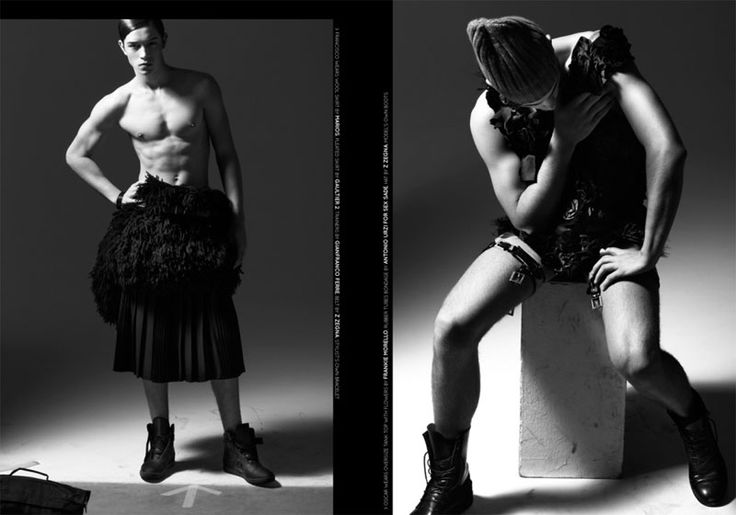 NEW WAVE MEN'S EDITORIAL SHOT BY MASSIMO PAMPARANA