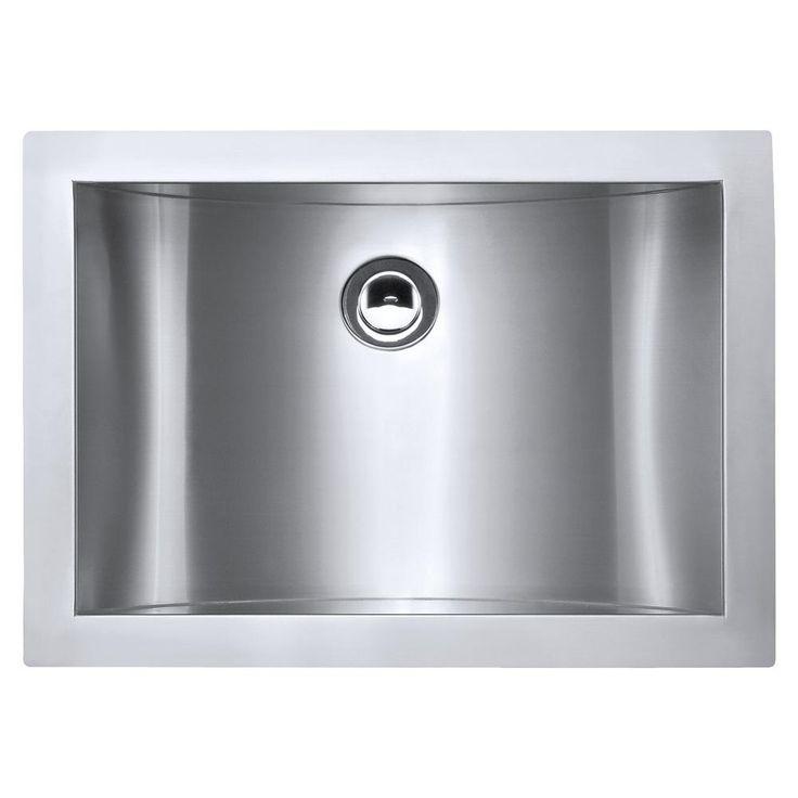 21 in. Undermount 18-Gauge Stainless Steel Bathroom Sink, Brushed Stainless Steel
