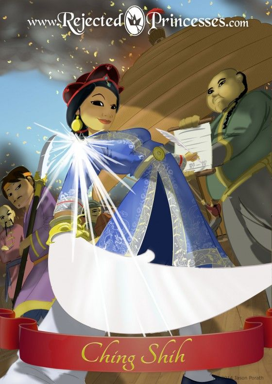 Ching Shih (1775-1844) Ching Shih, a former prostitute turned Pirate Queen of over 70,000 men. MORE: http://www.rejectedprincesses.com/princesses/ching-shih/