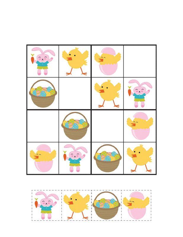 Wielkanoc;: Sudoku do druku 3