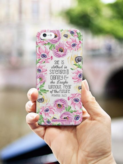 Inspired Cases Proverbs 31.25 - Bible Verse Quote Inspirational Design Case #inspiredcases #inspirationalquote
