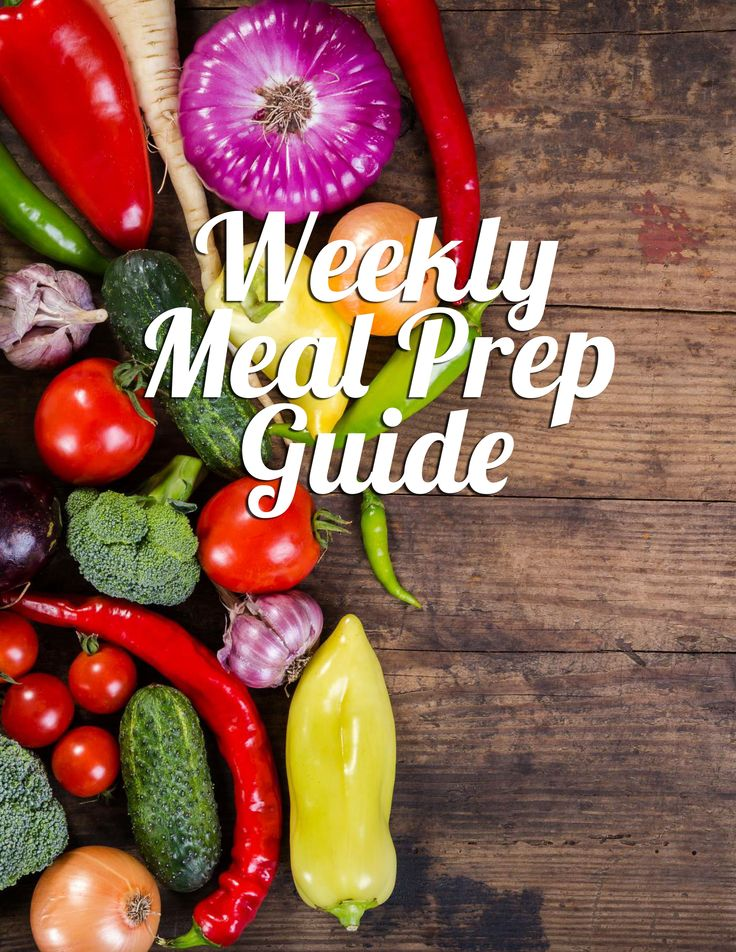 Healthy Weekly Meal Prep Guide eBook for just $1.99!  5 Weeks of menus, shopping lists and recipes!!!