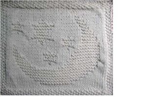 Knitting Patterns: Moon & Stars Dishcloth
