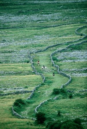 The Burren, Co Clare, one of Europe's  largest areas of karst landscape. Burren Clare Ireland, Karst Image from Tourism Ireland