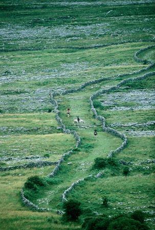 The Burren, Co Clare, one of Europe's  largest areas of karst landscape. Burren Clare Ireland, Karst Image from Tourism Ireland
