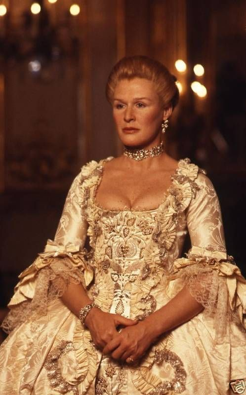 Glenn Close - Dangerous Liaisons (1988) One of my favorite movies of all time. I loved the clothes that she wore!
