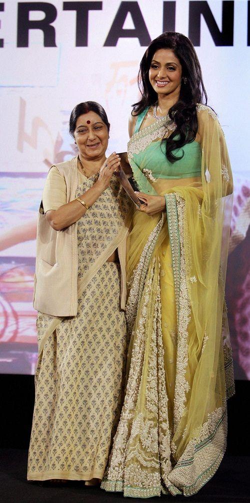 Fashion: Sridevi In Designers Saree 2013