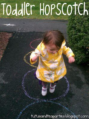 Toddler hopscotch