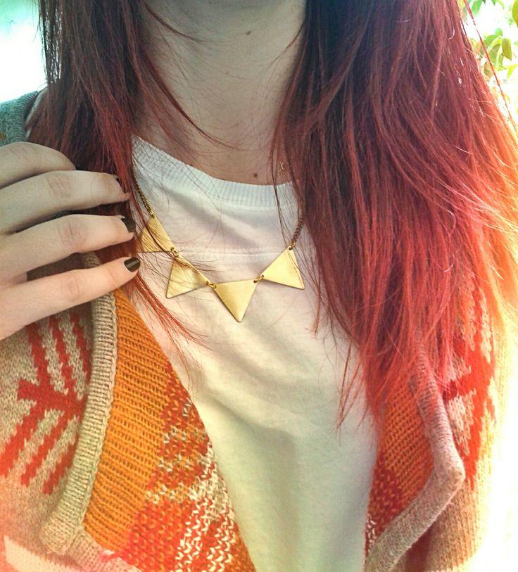 Lycidas triangle necklace  https://www.facebook.com/jewelrylycidas