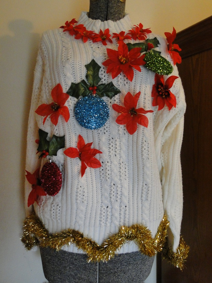 Homemade Cheap Ugly Christmas Sweater WITH matching purse - Gaudy, Novelty, Holiday, Party, Xmas by EtsyAttic on Etsy. $44.99, via Etsy.