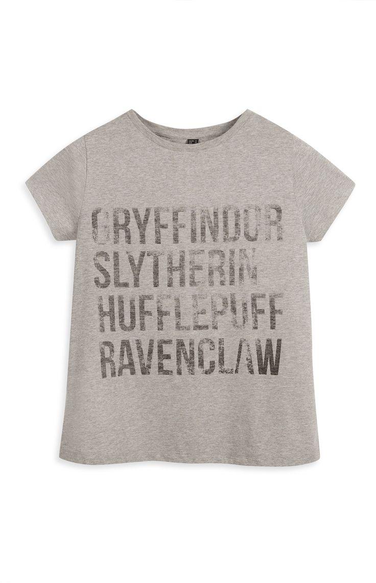 Primark - Grey Harry Potter Houses T-Shirt