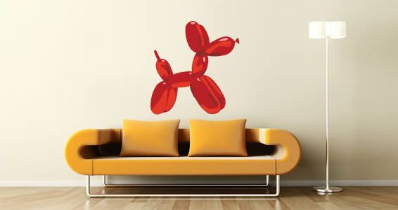 Balloon Dog contemporary wall decals