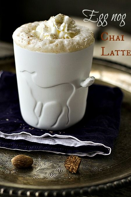 Eggnog Chai Latte at www.foodiewithfamily.com