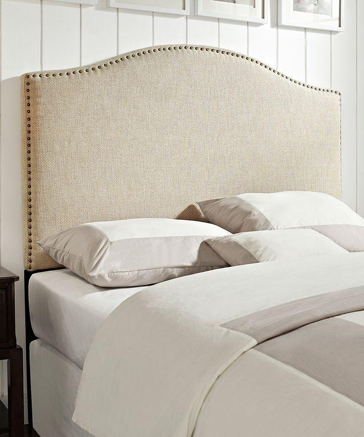 Linen QueenFull Size Upholstered Headboard Ivory