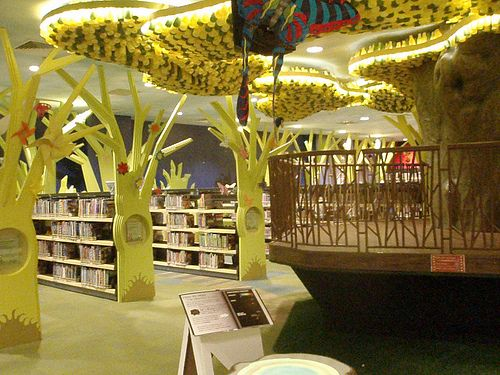 The Childrens Library At Central Public In Singapore Was Refurbished 2013 Using Principles Of Sustainability There Were Corporate Sponsors