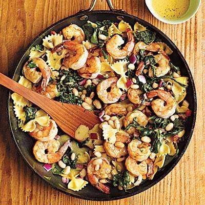 Warm Pasta Salad with Shrimp | CookingLight.com
