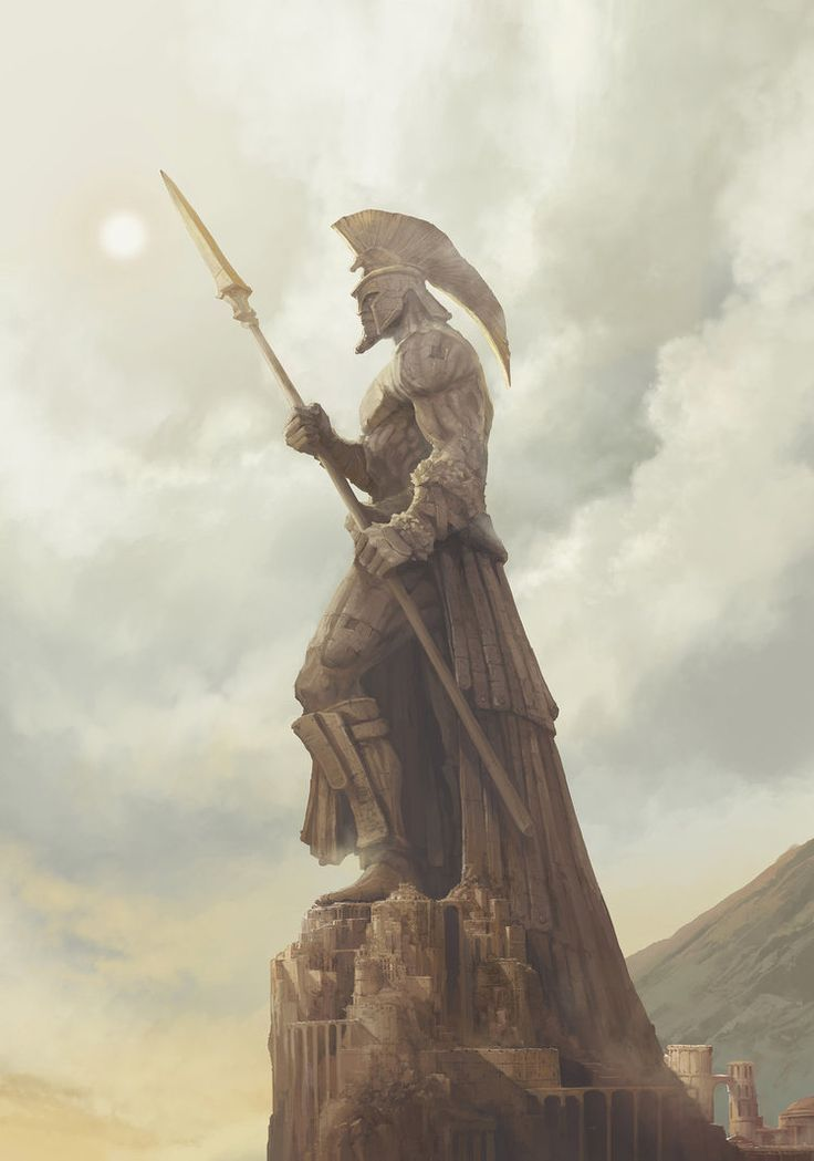 giant city stone statue by artcobain on DeviantArt