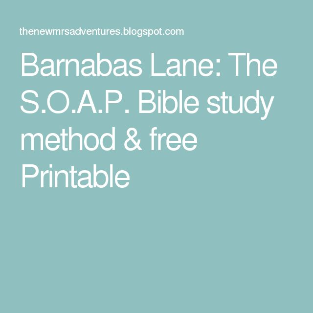 Barnabas Bible Study - MINISTRY-TO-CHILDREN