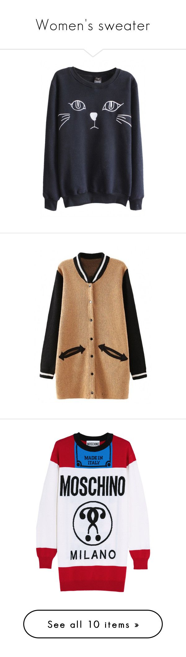 """""""Women's sweater"""" by xfrodo ❤ liked on Polyvore featuring tops, hoodies, sweatshirts, sweaters, shirts, shirt top, cardigans, outerwear, jackets and beige cardigan"""