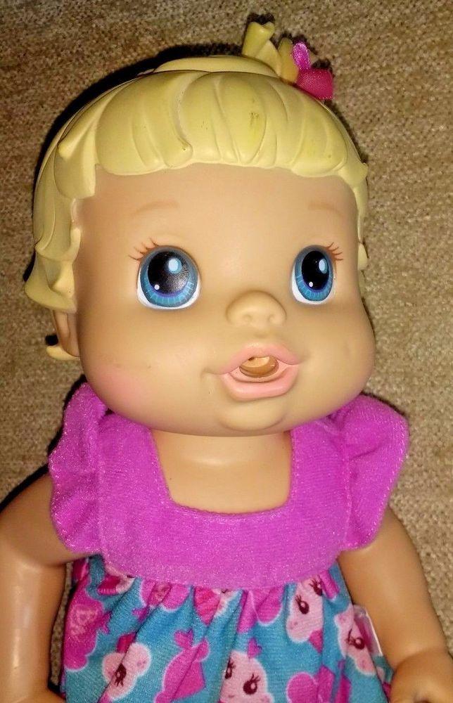 Baby Alive Super Snacks Snackin Lily Blonde Doll Doll Only 2008 10 Inch Vinyl Hasbro Dolls Baby Alive Super Snacks Childhood Toys