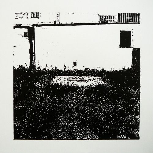Veľkomoravská 2164-30 [printmaking, cutting into MDF] #printmaking #woodcut #bunker #art #shelters