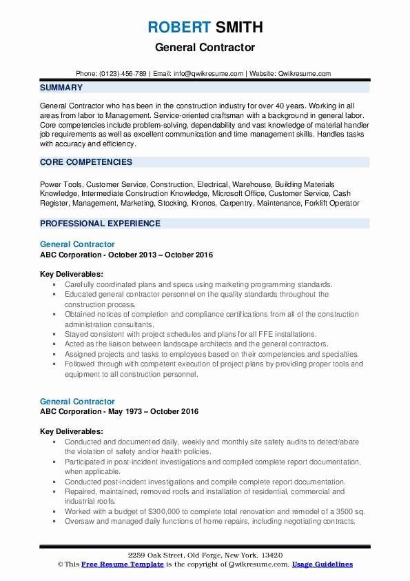 25 General Construction Worker Resume Job Resume Modern