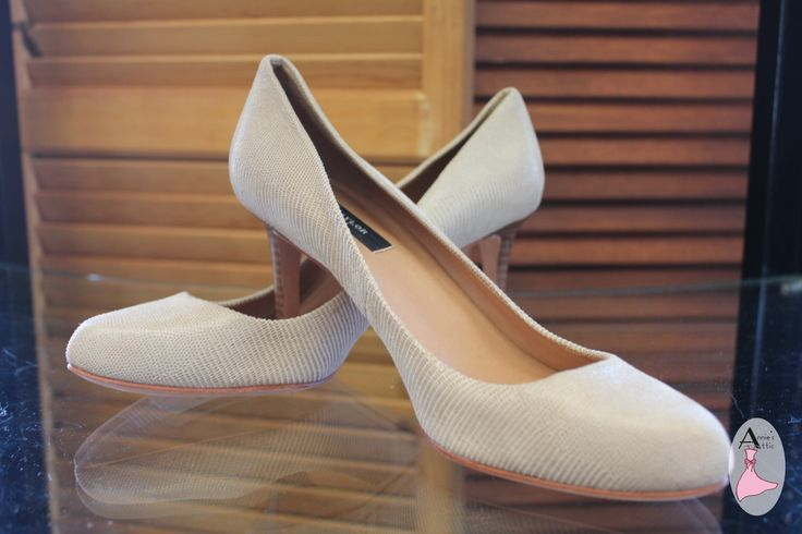 Ann Taylor heels Size 7.5 Tan snakeskin pattern Brand new! One small mark on the back of the left shoe $29.00