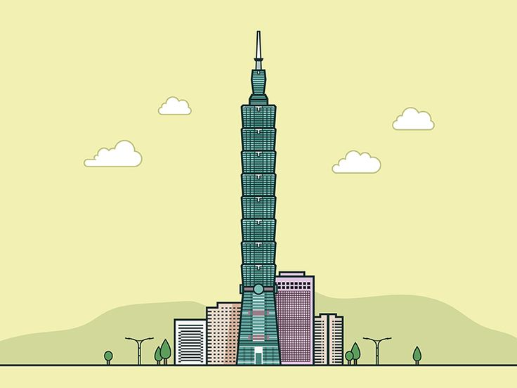 Taipei 101 by Will Sun #Design Popular #Dribbble #shots