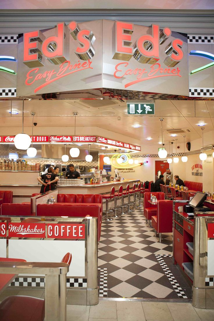 1950's burger diners | All-American menu at Ed's Diner in Highcross, Leicester | Eat Out ...
