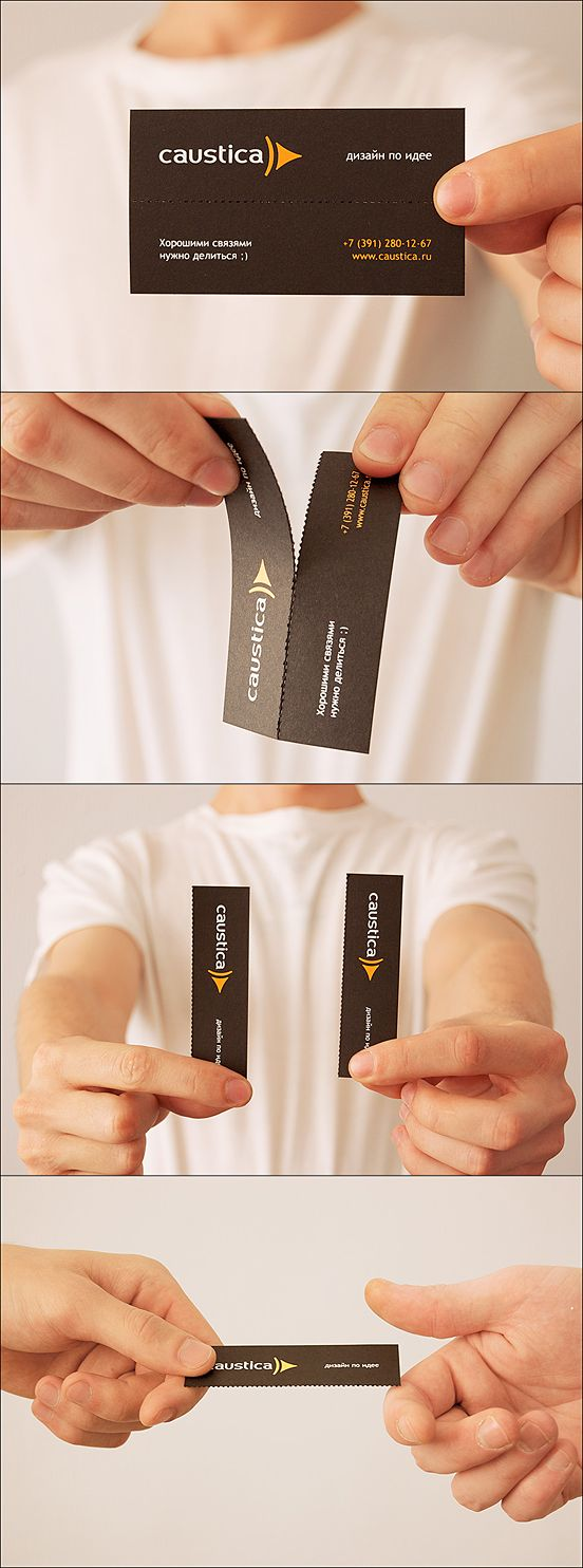 58 best business cards images on pinterest graphics creativity caustica business card design share half of your business card with your partner magicingreecefo Choice Image