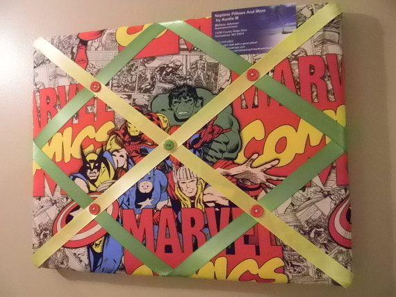 11 x 14 Marvel Comics Superheros Memory Board on Etsy, $20.00