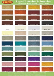 fence paint colour chart protek garden pinterest. Black Bedroom Furniture Sets. Home Design Ideas