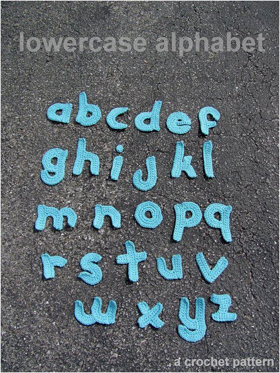 Crochet Applique Letters Inviview