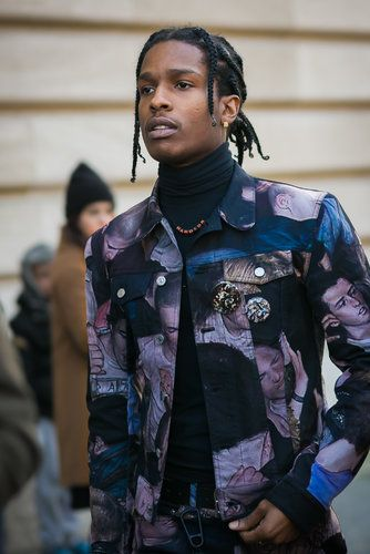 Street Style: Paris Men's Fashion Week - ASAP Rocky making his way to the Dior Homme show. - The New York Times
