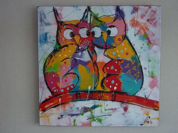 Liz - vrolijk schilderij