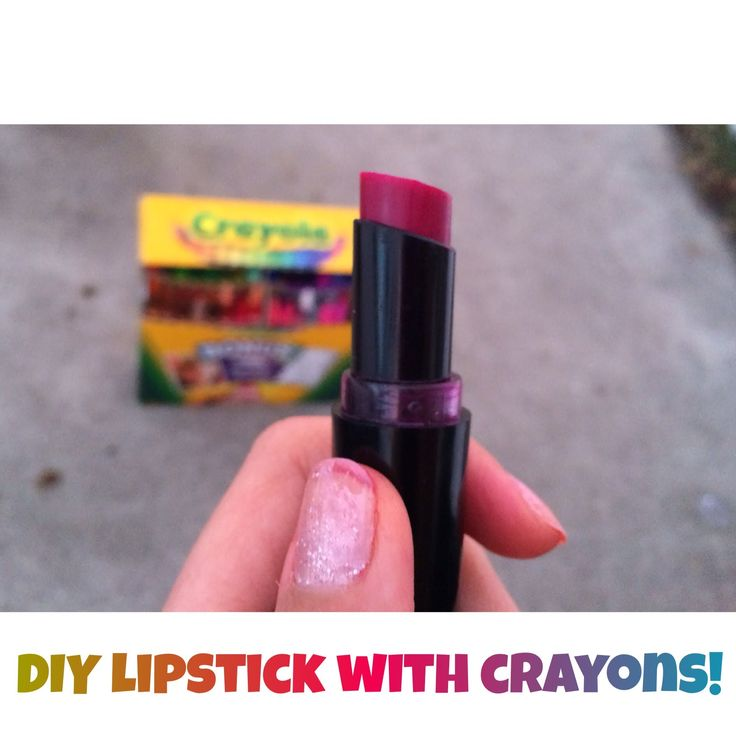 DIY lipstick with crayons!!  She added more ingredients.  Vanilla, honey, vaseline