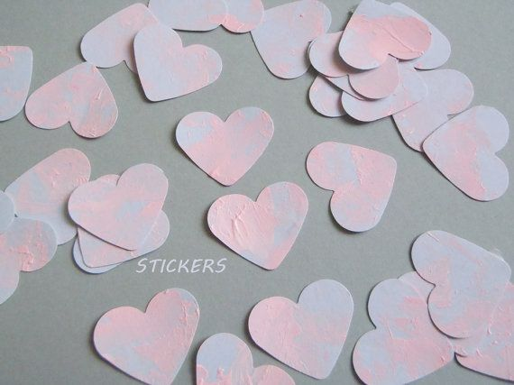 hearts planner stickers pink blue wedding decal sticker pastel goth label guest book shower invitation envelope scrapbooking lasoffittadiste